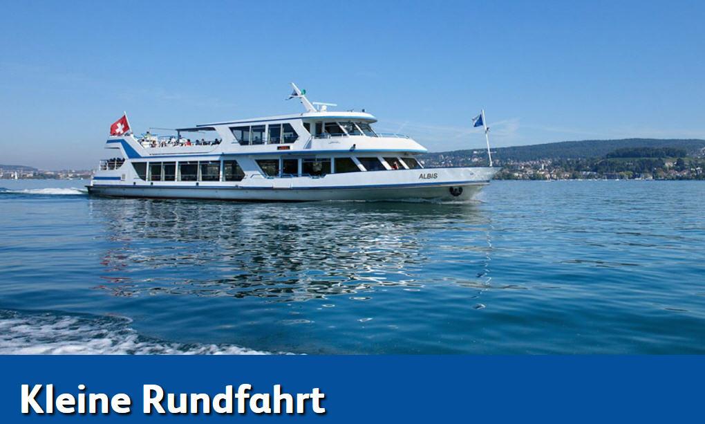 Schifffahrtslunch, kleine Rundfahrt Zürichsee